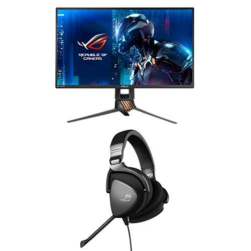 "Asus ROG PG258Q Swift Monitor da Gaming 25"", 1920 x 1080 Full HD + ROG Delta CORE Cuffie Gaming, Driver Essence e Cuscinetti Auricolari Ergonomici"