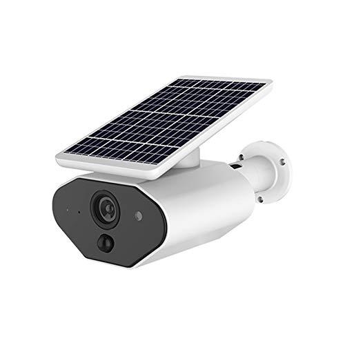REFURBISHHOUSE Ip65 Solar Betriebene Drahtlose Ueberwachungs Kamera, 2,4 Ghz WiFi Ip Kamera Im Freien Mit Bewegungs Erkennung Nachtsicht, Drahtlose Ueberwachungs Kamera Mit Eingebauter Batterie (Wlan-überwachungskameras Im Freien)