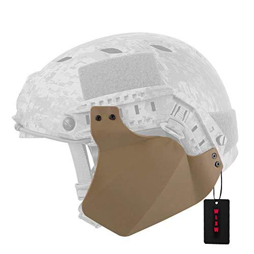 WLXW Tactical Quick Helmet Side Gehörschutz Ohrenschützer, Rail Mount Air Gun Paintball Gehörschutz, CS War Game BQB Armor Side Cover,Tan -