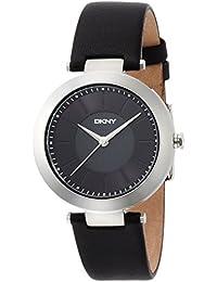 DKNY Damen-Armbanduhr 36mm Armband Kalbsleder Schwarz Gehäuse Edelstahl Quarz Analog NY2465