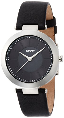 dkny-womens-36mm-black-leather-band-steel-case-quartz-analog-watch-ny2465