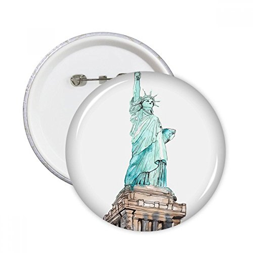 New York Harbor rund Pins Badge Button Kleidung Dekoration Geschenk 5 X M ()