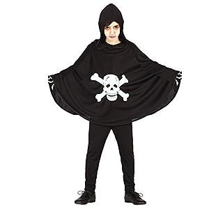 FIESTAS GUIRCA Capa de túnica con Disfraz de Calavera para Disfraz de Terror Infantil