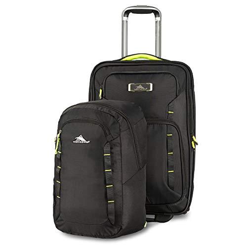 High Sierra AT8Rädern Handgepäck mit Pack n Go Rucksack, Schwarz/Zest, (Rucksack High Rädern Mit Sierra)