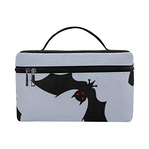 Black Night Bat Große Kapazität Größe Dame Kosmetiktasche Makeup Organizer Lunchbox Tote Halter Fall Kühler Für Mädchen Frauen Reise Picknick