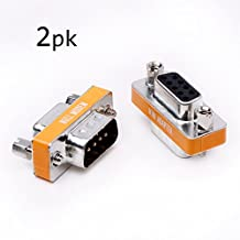 Adattatore da maschio a femmina DB9Null modem Slimline trasferimento dati porta seriale adattatore 2pezzi