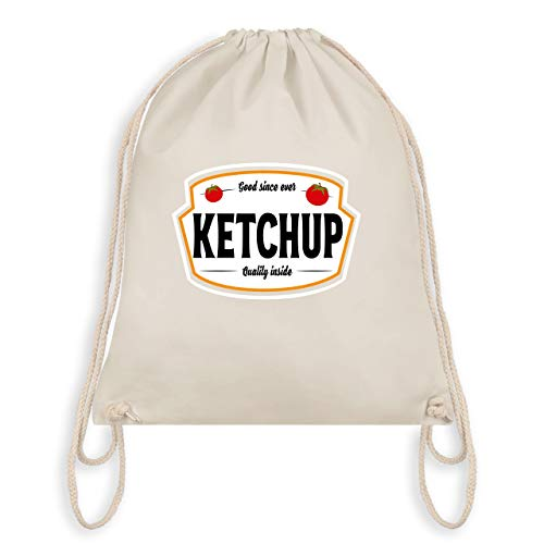 (Karneval & Fasching - Ketchup Kostüm Karneval Fasching - Unisize - Naturweiß - WM110 - Turnbeutel & Gym Bag)
