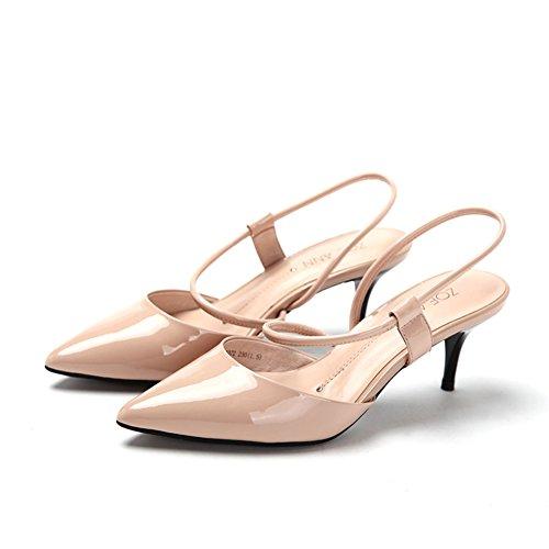 Primavera punto luce air scarpe/Scarpe con il cinturino a spillo di vernice C