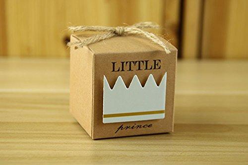 kingsley-50pz-principe-bomboniere-vintage-carta-kraft-candy-scatole-regalo-scatole-cubo-portaconfett