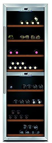 CASO WineComfort 180 Design Weinkühlschrank für bis zu 180 Flaschen (bis zu 310 mm Höhe), zwei...