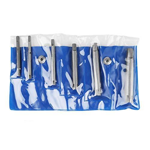 Wasserhahn Auszieher Set,Janly Hochwertiger Stahl Kaputte Kopfhähne Entferner Abgestreifter Gewindebohrer Auszieher Set (6pc)