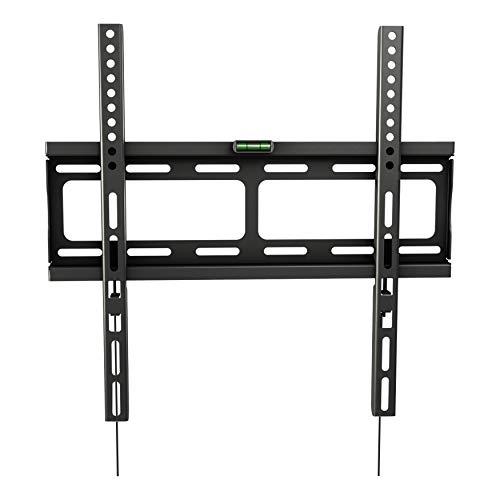 RICOO TV Wandhalterung F0244 Universal Fernseh Halterung Super Flach Wand Halter Aufhängung auch für Curved LCD und LED Fernseher | ca. 66-140cm / 26-55 Zoll | VESA 200x100 400x400 | Schwarz (26in Flachbild-tv)