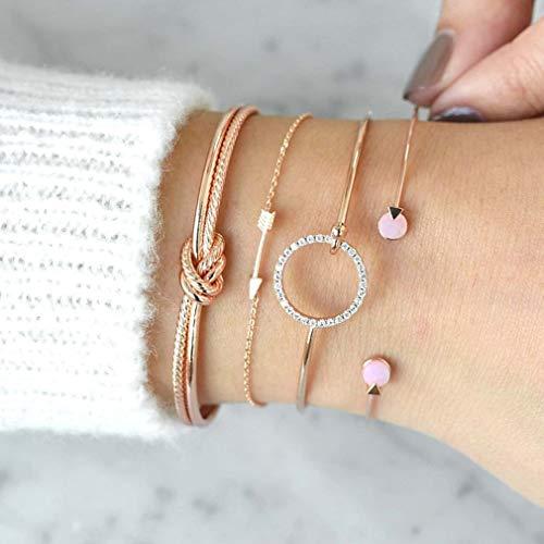 BeipeY Persönlichkeit Big Bow Open Armband verknotet Ring -