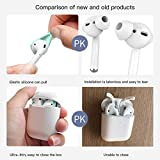 DamonLight {Fit in The case} Airpods Earpods Covers Anti-Slip Silicone Soft Sport Covers Accessories Apple AirPods Earbud airpods eartips 2 Pairs White (NOT include airpods)