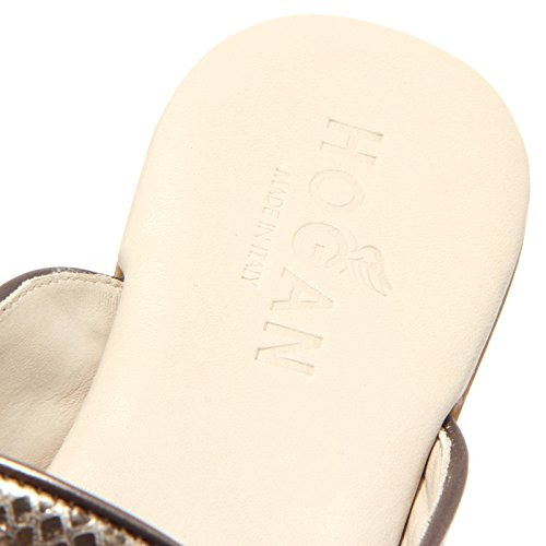 1433Q ciabatta HOGAN VALENCIA bronzo scarpa donna sandal woman Bronzo