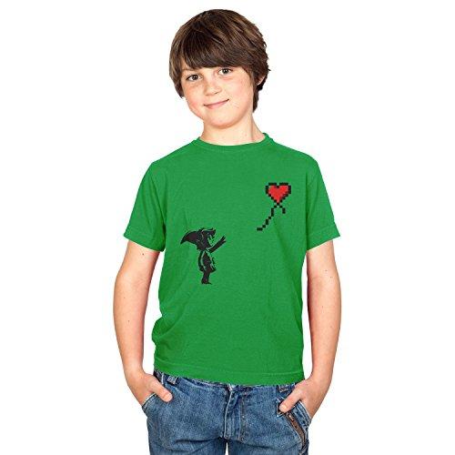 TEXLAB - Banksy Link - Kinder T-Shirt, Größe S, (Of Shiek Time Ocarina Kostüm)