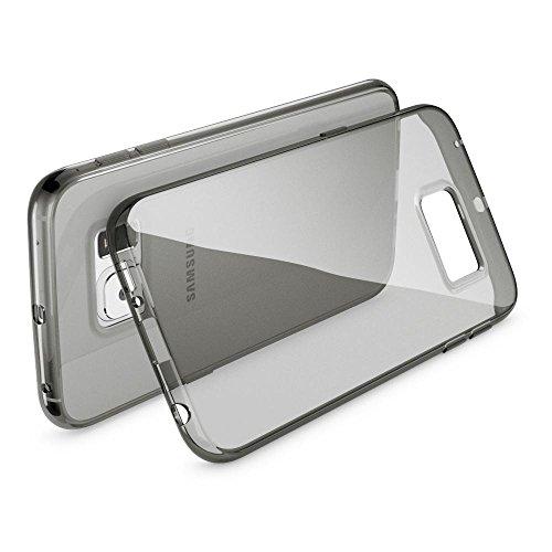 Samsung Galaxy S8 Plus Hülle Handyhülle von NICA, Ultra-Slim Silikon Case Cover Crystal Schutzhülle Dünn Durchsichtig, Handy-Tasche Backcover Transparent Bumper für Samsung S8 Plus, Farbe:Pink Grau