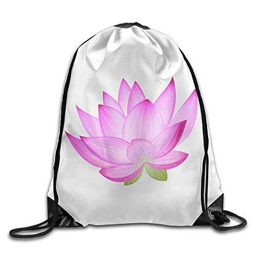 FTKLSS Lightweight Foldable Large Capacity White Tiger Face Pulling-knapsack Backpack Sport Gym Sack Drawstring Backpack Bag