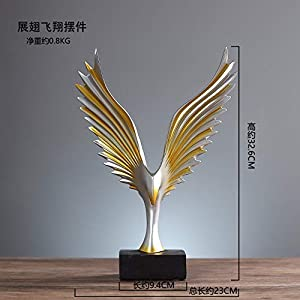 41fmIuYQYXL. SS300  - Golden Flying Wings Figurine, Small Statue Resin Statuette Mini Ornament Modern Creative Collectibles Art Deco For Home Living Room Bedroom Girls Boys