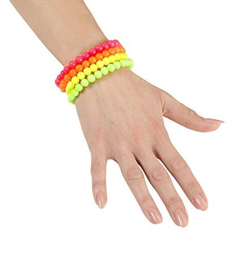 Panelize® 80er Jahre Neon Perlen Armband Schmuck Set 4 Farben neonfarben