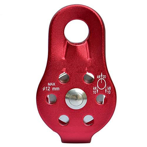 Shopps Riemenscheibe, tragbare kleine hochfeste Rettungsrolle aus Aluminium-Magnesium-Legierung, geeignet für Klettern, Training, Feuerrettung und Fitnessgeräte -