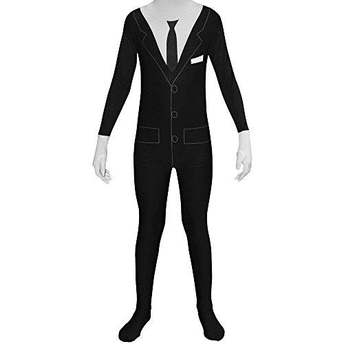Imagen de disfraz de esmoquin slenderman morphsuits infantil