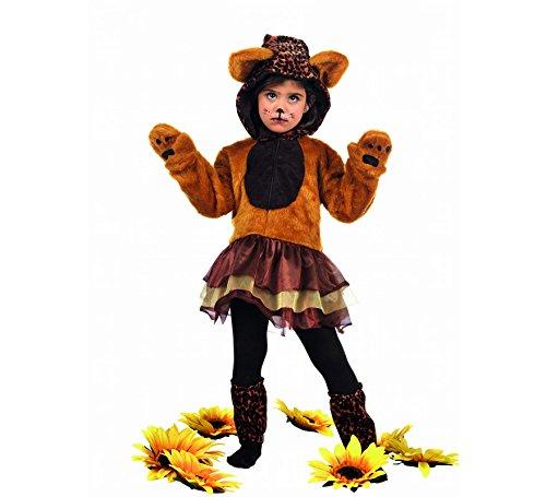 Kinder Und Kapuze Kostüm Handschuhe Leopard - Limit Sport Kostüm Leopard mit Tutu, für Kinder, Gr. S (mb680)