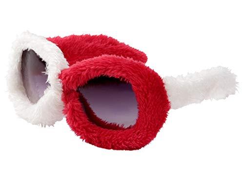 Alsino Plüschbrille Plüsch Brille Gagbrille Partybrille Apres-Ski Plüsch-Brille Fellbrille 40 (F-040 plüsch rot weiß)