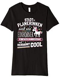Damen Lustiges Stadtplanerin Beruf Einhorn T-Shirt