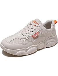 Old Shoes - Zapatos de mujer coreana versión del oso con fondo grueso y zapatos blancos pequeños (color blanquecino)