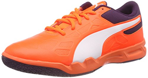 Puma Unisex-Erwachsene Tenaz Handballschuhe, Orange (Shocking Orange-Puma White-Shadow Purple 03)