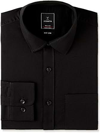 Xessentia Men's Formal Shirt (XFRSH001_XXX-Large_Black)