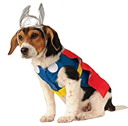 Rubie´s Thor Pet Dog Fancy Dress Super Hero Comic Book Pet Animal Halloween Costume New