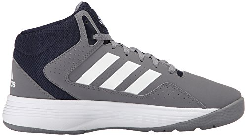 Adidas Performance Cloudfoam VENTILATION Mid Basketball Shoe, noir / argent / blanc métallique, 6,5 Grey/White/Collegiate Navy