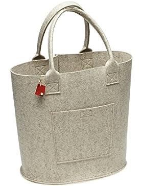 Big Bag aus Filz (100% Wolle) mit Henkel, Tasche von i.Punkt