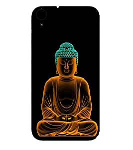 Buddha, Black, Buddha Pattern, Printed Designer Back Case Cover for HTC Desire 830 :: HTC Desire 830 Dual Sim