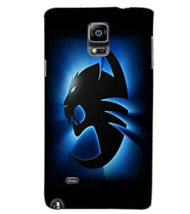 SAMSUNG GALAXY NOTE 4 TIGER Back Cover by PRINTSWAG