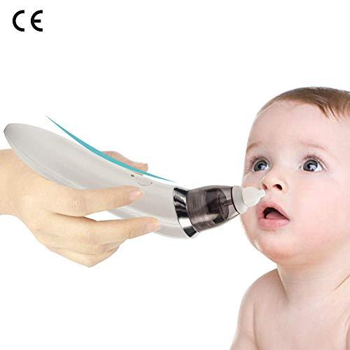 Aspirador Nasal Bebé Eléctrica Nariz Succión Limpiador de Nariz 5 Fuerza Aspiración al vacío Fácilmente...