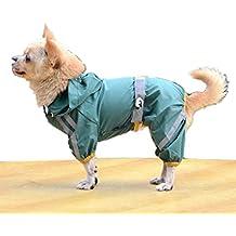 BACKSPORT Hund Katze Huastier Regenjacke Regenmantel Hoodies Hunderegenmantel Hunderegenjacke Wasserdicht (XS, #B Grün)