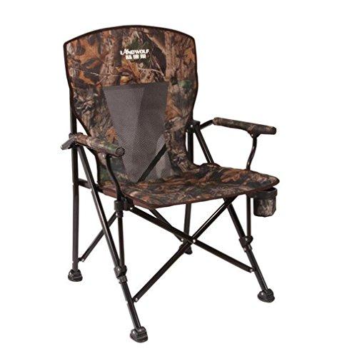 TTYY Moon Chair 2PCS Chaise Pliante extérieure/intérieure Barbecue Pêche Camping Sketch Beach (s'il Vous plaît Laissez Un Message si Vous Avez Besoin d'une Couleur différente), Camouflage