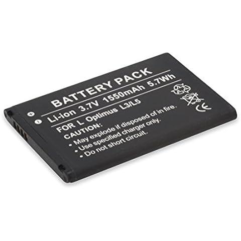 Ansmann Energy - Batería para LG Optimus L3/L5 (1550 mAh, 3.7 V, Li-Ion), color negro