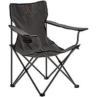 Grand Canyon Director- silla de camping plegable, acero, gris/negra, 308011