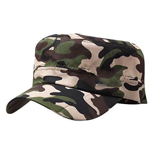 Zonfer Militär-Hut Armee Camo Tarnung Baseball Cap Cadet Flat Top Caps Für Die Jagd Angeln Outdoor-Aktivitäten -