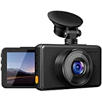 """apeman In Car Dash Cam 1080P FHD DVR Car Driving Recorder 3"""" LCD Screen 170°Wide Angle, G-sensor, WDR, Parking Monitor, Loop Recording, Motion Detection"""