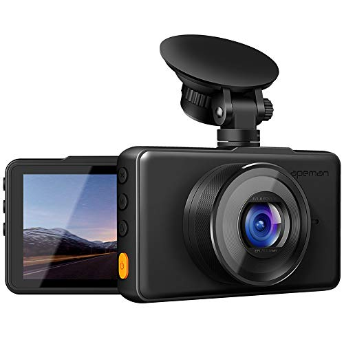 """apeman In Car Dash Cam 1080P FHD DVR Car Driving Recorder 3"""" LCD Screen ..."""