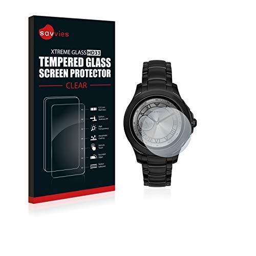 savvies Cristal Templado Compatible con Emporio Armani Connected ART5011 Protector Pantalla Vidrio Proteccion 9H Pelicula Anti-Huellas
