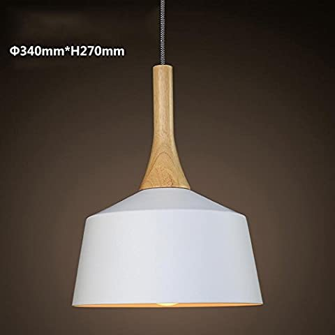 BBSLT Lámpara de mesa nórdico de estilo japonés minimalista moderno personalidad creativa lámpara colgante dormitorio Salón araña , P4131S-13W de luz amarilla.