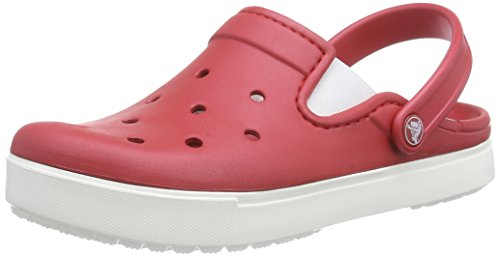 Crocs Citilane Clog, Zuecos Unisex Adulto, Rojo (Pepper/White), 37/38 EU