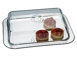 CHG SET 691AMAZ-10 gourmet plate with preserving hood / 42 x 31 x 8.5 cm