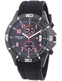 Mike Ellis New York M3096/1 - Reloj de pulsera hombre, silicona, color negro